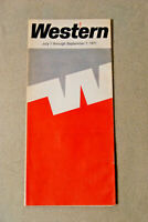 Western Airlines Timetable - July 1 thru Sept 7, 1971