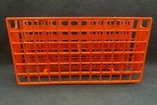 Nalgene Unwire 72 Place 13mm Orange Acetal Plastic Test Tube Rack 5970 0113