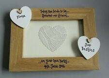 FRIEND PERSONALISED PHOTO FRAME HEN NIGHT BRIDAL SHOWER GIFT PRESENT BESTIES