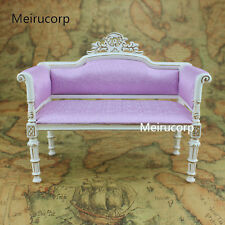 Doll Furniture 1:6 scale Handmade gilt Fabric sofa Retro