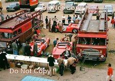 FERRARI i trasportatori & Corsa Auto nel paddock area LE MANS 1963 Fotografia