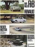 Prospekt Renault 8 R8 40 PS Scheibenbremsen Autoprospekt Auto PKW sales brochure