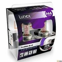 2x H4 Lunex PLASMA BLUE 472 12V 60/55W Car Headlight Halogen Bulbs P43t 4200K