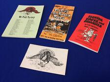 VINTAGE Set- Tom Gaskins Talk Turkey Hunting Books Postcard Stories, Tales Facts