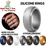 Silicone Wedding Engagement Ring Men Women Rubber Flexible Workout Band Gift NEW