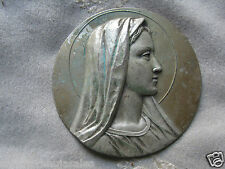 Vintage Mother Mary Madonna Lady Of Fatima Wall Tin-Christianity Made In Italy,