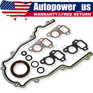 LS Timing Chain Cover, Water Pump Gaskets & Main Seal For GM LS1, LS2, LS3, LS6