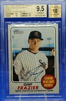 🔥Clint Frazier 2017 Topps Heritage Real One ON CARD Autographs Gray RC /25 w/10