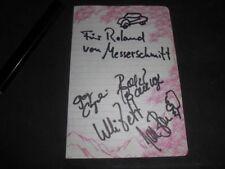Messerschmitt - Autogramme - signiert - Band - Rock in Berlin - Joe Bauer etc