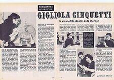 COUPURE DE PRESSE CLIPPING 1965 GIGLIOLA CINQUETTI  (2 pages)