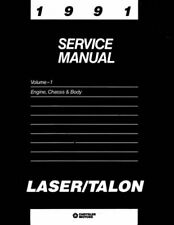 Oem Repair Shop Manual Bound For Plymouth Laser 1991
