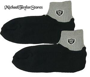 Oakland Raiders NFL Men's Winter Booties Warm Socks