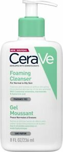 CeraVe Foaming Cleanser 236ml/8oz Daily Face, Body & Hand Wash with Niacinamide