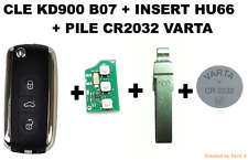CLE KD900 B07 + INSERT HU66 + PILE VARTA CR2032