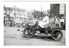 Vintage photograph Parade Fire Dept. Auto Coca Cola Sign Flags Cafe
