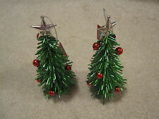 2 Christmas tree ornament new with tags Christmas holiday trees with stars