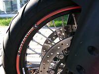 STRISCE ADESIVE compatibili per MOTO KTM ADVENTURE adesivi CERCHI 18' 21'Arancio