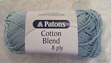 Patons Cotton Blend 8 Ply #34 Cloud Cotton/Acrylic 50g