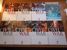 MARVEL: CIVIL WAR #1-7, COMPLETE SET + # 3 VARIANT, LAST CAP MOVIE, 2006, VF+!!!
