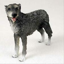 Irish Wolfhound Dog Hand Painted Canine Collectable Figurine Statue