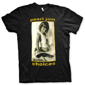 Pearl Jam 'Choices' Black T-Shirt - NEW OFFICIAL