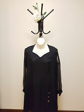 ✿♡ Womens Dress Size XL (Black Sheer Evening Vintage 80's Style Elegant) ♡✿