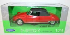 Citroen DS19 Cabrio Top Up - Red 1/24 Welly Model Car