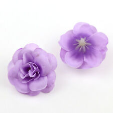 10/100Pcs Lavender Artificial Fake Flower Silk Rose Heads DIY Wedding Home Decor