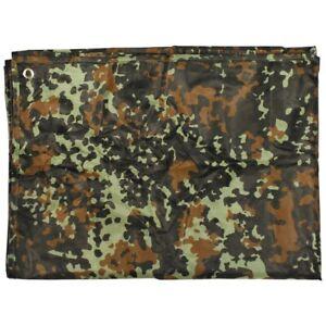 Armee Mehrzweckplane Tarp Sonnensegel Regenschutz oliv flecktarn tarn camo 3 x 3