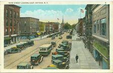 Batavia, NY Thing's Shoe Store & Rialto Restrauant on Main Street looking East