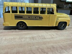 Vintage Hubley Gabriel School Bus Made In USA