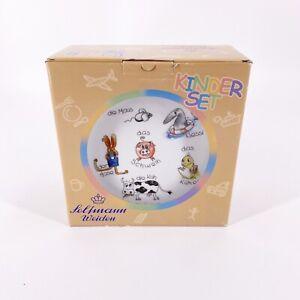 Seltmann Weiden Kinder Child Cup Plate Bowl Set Bavaria Germany Animals New