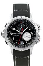 Hamilton Khaki Aviation ETO Chrono Black Dial Rubber Band Men's Watch H77612333