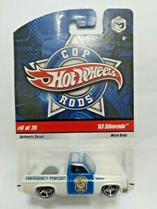 Hot Wheels 83 Silverado Cop Rods Cracked Blister