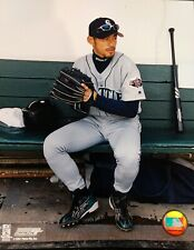 ICHIRO SUZUKI Sitting in the Dugout 8X10 PHOTO  Seattle Mariners
