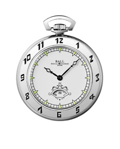 AUTHORIZED DEALER BALL PW1098E-WH Trainmaster Secometer 45mm Pocket Watch