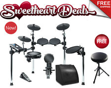 NEW Alesis Command Kit Electronic Drum Set Bundle with 50 Watt Monitor Speaker