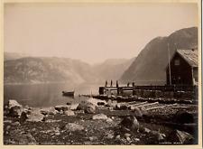 Knudsen. Norvège, Parti af Mauranger Fjorden Fra Sundal, Hardangen Vintage album