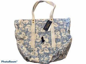 Ralph Lauren Polo Floral    Canvas Big Pony Mini Tote Bag