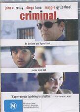 CRIMINAL - John C. Reilly, Diego Luna, Maggie Gyllenhaal  - DVD
