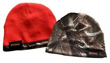 New! STIHL Reversible Realtree AP Camo and Blaze Orange Beanie Hat Cap