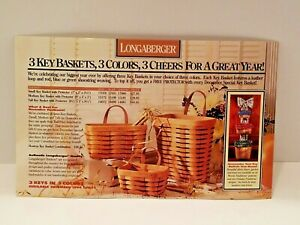 Longaberger CHRISTMAS 1994 OVERSIZED POST CARD ANNOUNCEMENT-FRAMEABLE- FREE SHIP