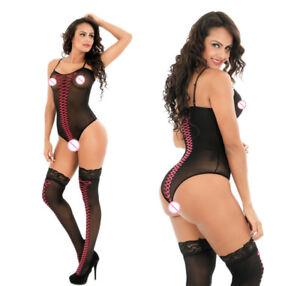 Sexy Bodystocking Teddie Set One Size 8 10 12 Lingerie Christmas womens