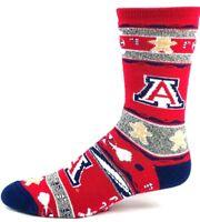Arizona Wildcats Football Christmas Gingerbread Crew Socks Red