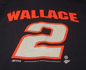Rusty Wallace #2 Miller Light Racing Blue Short Sleeve T Shirt L Winners Circle