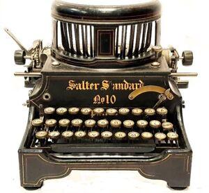 ►Antigua maquina de escribir SALTER Nº10 Schreibmaschine rare typewriter 1909►