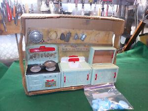 Fabulous Mid-Century Toy Kitchen Set Rare Vintage 3-Piece Wolverine Kitchen Set
