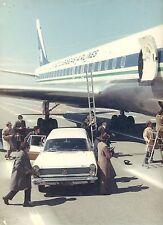 ALAIN DELON  LE CLAN DES SICILIENS 1969 VINTAGE PHOTO ORIGINAL #2 DOUGLAS DC-8