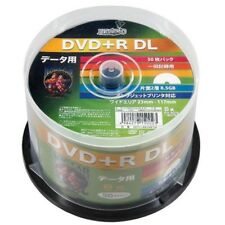 NEW 50 Hi-Disc DVD+R DL 8.5GB 8x Speed Dual Layer DVD Discs Inkjet Printable