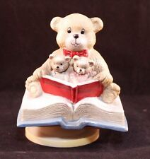 Albert E Price Inc. Music Box Mother Bear and Cubs - Story Time - Refurbished